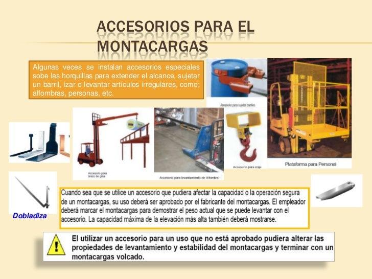 MONTACARGAS VS. AUTOMÓVILES