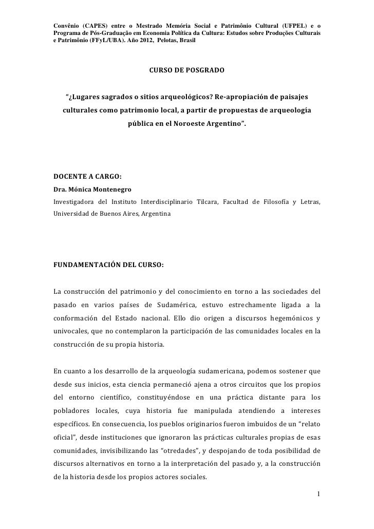 Convênio (CAPES) entre o Mestrado Memória Social e Patrimônio Cultural (UFPEL) e oPrograma de Pós-Graduação em Economia Po...