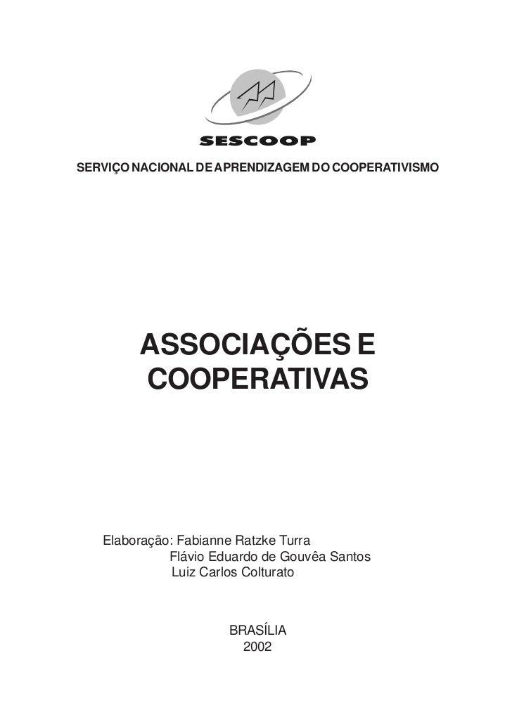 SERVIÇO NACIONAL DE APRENDIZAGEM DO COOPERATIVISMO        ASSOCIAÇÕES E        COOPERATIVAS   Elaboração: Fabianne Ratzke ...