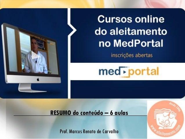 RESU RESUMO do conteúdo – 6 aulas Prof. Marcus Renato de Carvalho