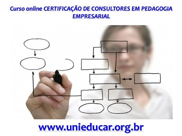 Curso online CERTIFICAÇÃO DE CONSULTORES EM PEDAGOGIA EMPRESARIAL www.unieducar.org.br