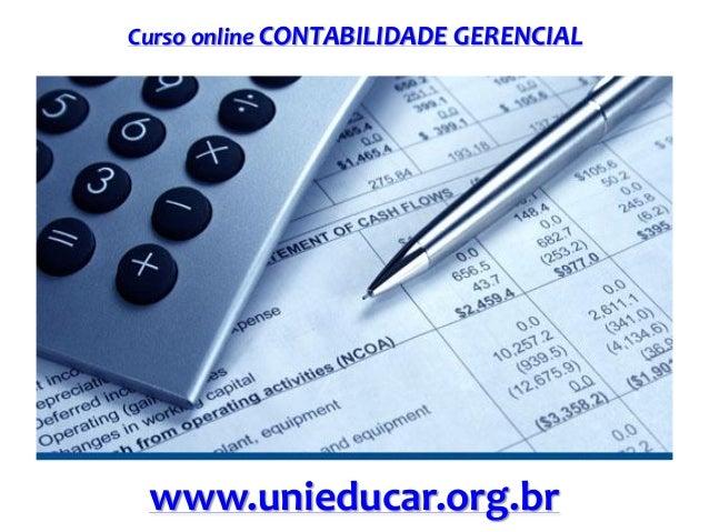 Curso online CONTABILIDADE GERENCIAL  www.unieducar.org.br