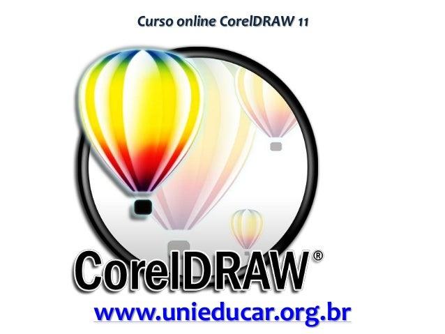 Curso online CorelDRAW 11  www.unieducar.org.br