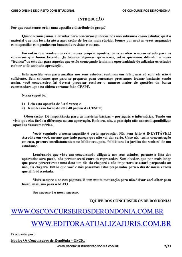 Curso Online de Direito Constitucional -  Aula 01 Slide 2