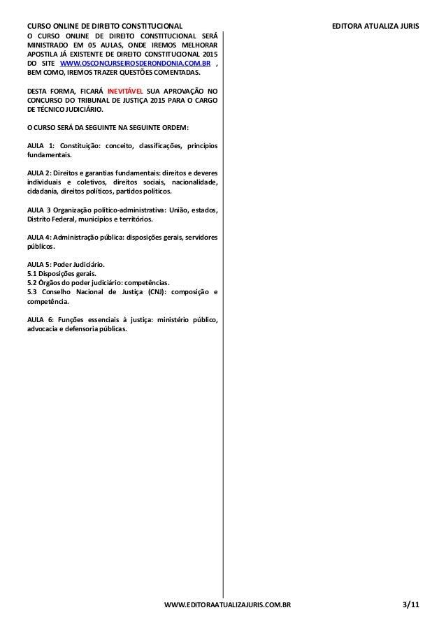 Curso Online de Direito Constitucional -  Aula 01 Slide 3