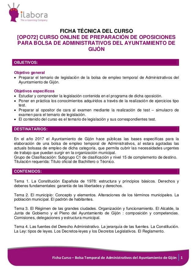 Curso Online de Preparación de Oposiciones para Bolsa de Administrati…