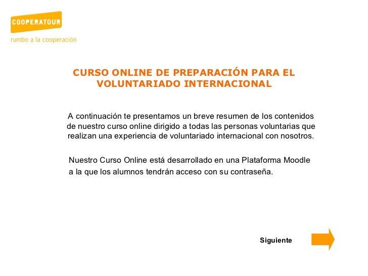 Curso online de preparación para el voluntariado internacional