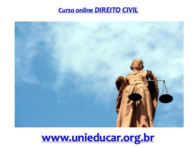 Curso online DIREITO CIVIL  www.unieducar.org.br