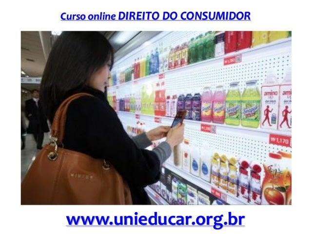 Curso online DIREITO DO CONSUMIDOR  www.unieducar.org.br