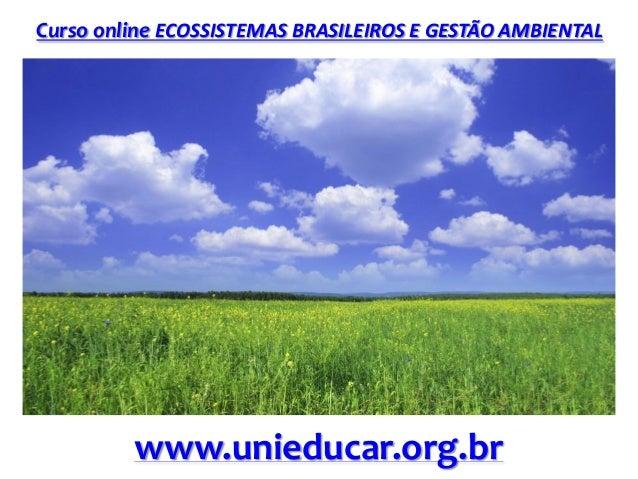Curso online ECOSSISTEMAS BRASILEIROS E GESTÃO AMBIENTAL www.unieducar.org.br