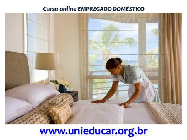 Curso online EMPREGADO DOMÉSTICO  www.unieducar.org.br