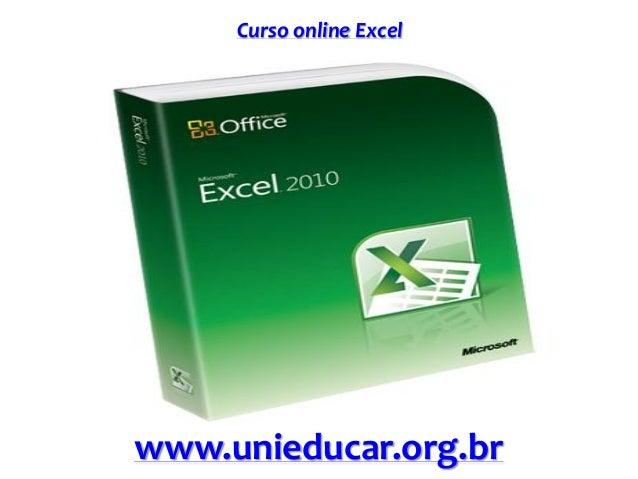 Curso online Excel www.unieducar.org.br