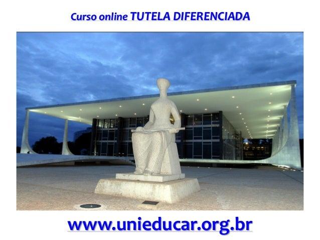 Curso online TUTELA DIFERENCIADA  www.unieducar.org.br