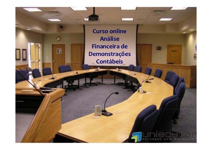 Cursoonline    Análise FinanceiradeDemonstrações   Contábeis