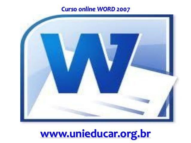 Curso online WORD 2007 www.unieducar.org.br