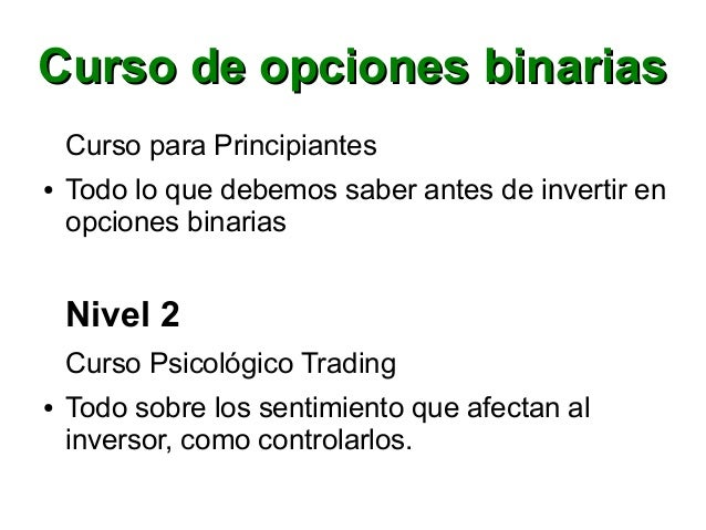 Curso opciones binarias argentina