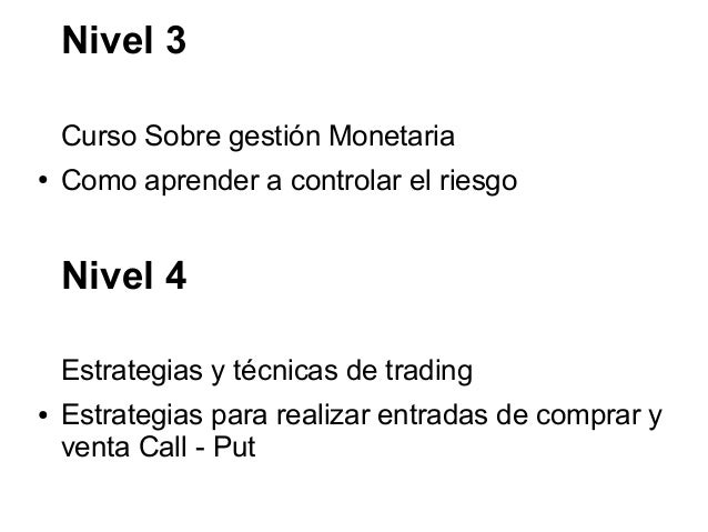 Curso opciones binarias gratis