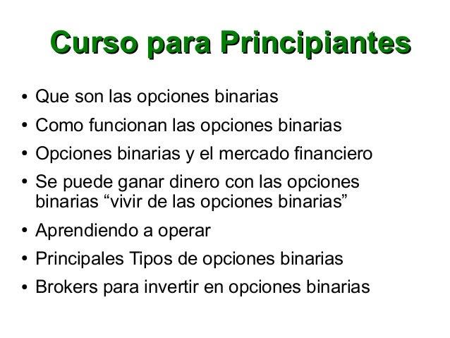 Caracteristicas de las opciones binarias