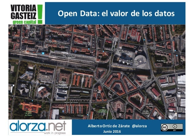 Alberto	Ortiz	de	Zárate		@alorza Junio	2016	 Open	Data:	el	valor	de	los	datos