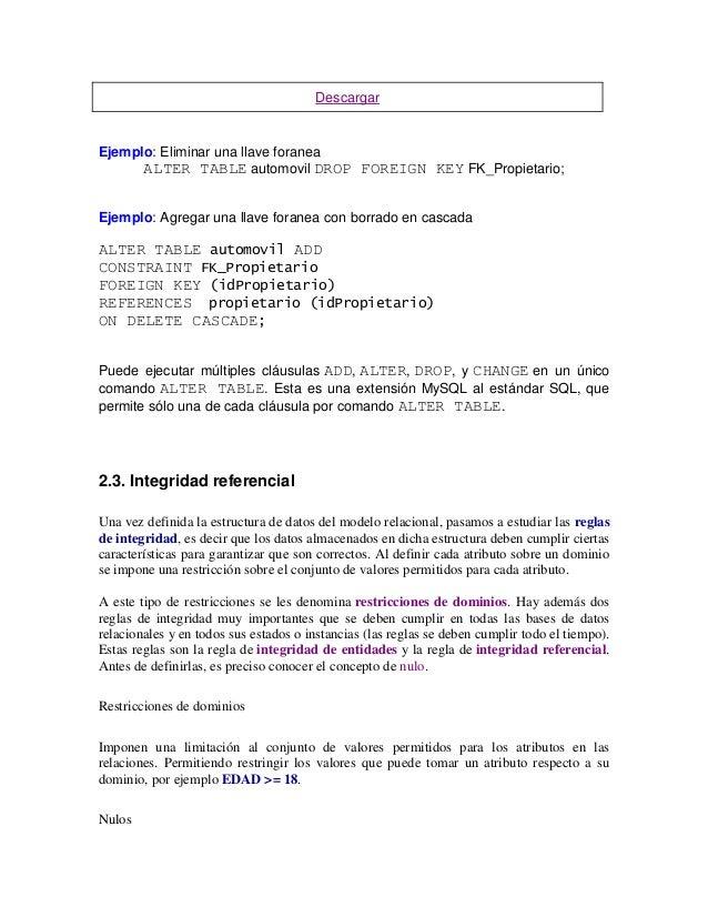 Curso oracle por temas - Alter table add foreign key ...