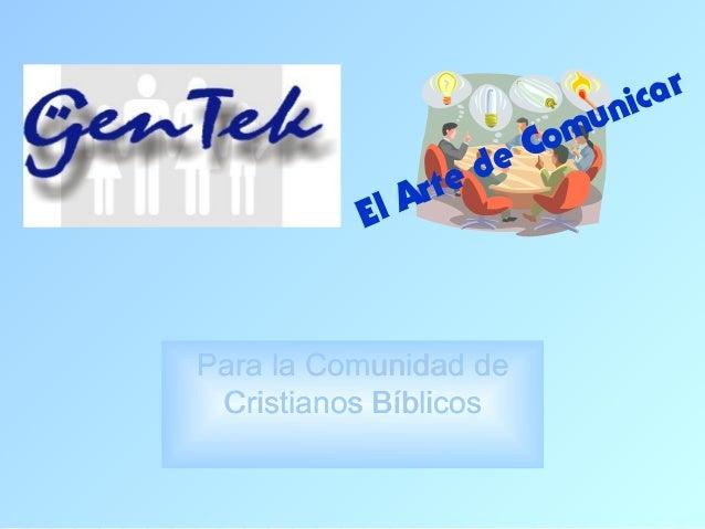 nic ar                           Comu                     d   e             Ar   te          ElPara la Comunidad de Cristi...