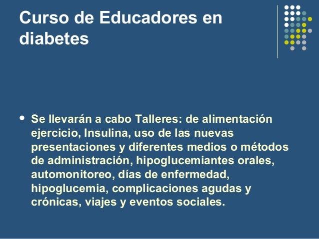 Curso para la formación de personal profesional de Diabetes