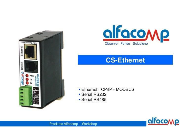 Observe Pense Solucione                               CS-Ethernet                  Ethernet TCP/IP - MODBUS               ...