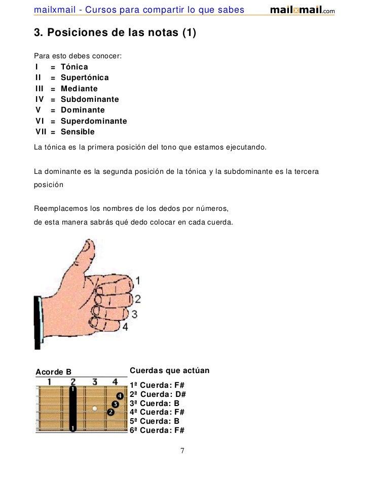 mailxmail - Cursos para compartir lo que sabes3. Posiciones de las notas (1)Para esto debes conocer:I     =   TónicaII    ...