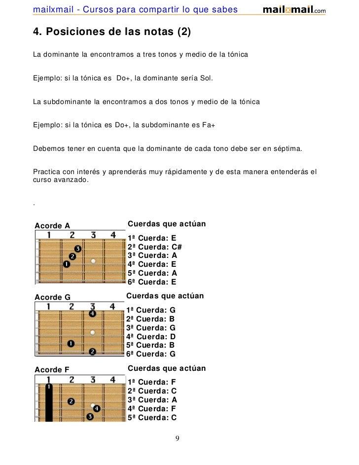 mailxmail - Cursos para compartir lo que sabes4. Posiciones de las notas (2)La dominante la encontramos a tres tonos y med...