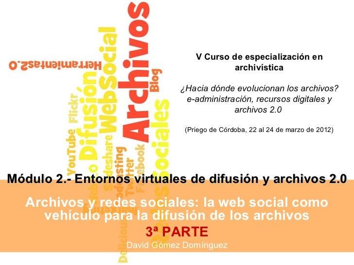 V Curso de especialización en                                           archivística                              ¿Hacia d...