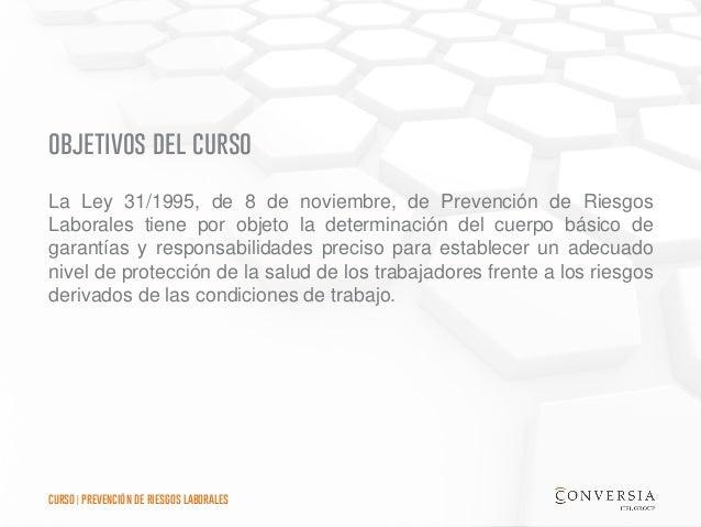 Curso de Formación Conversia - Prevención de Riesgos Laborales Slide 2
