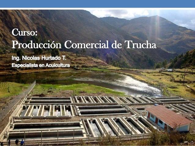 Curso produccion de trucha for Criaderos de truchas y tilapias