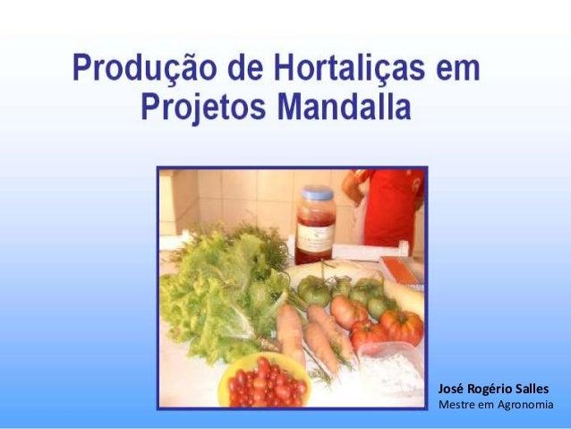 José Rogério Salles Mestre em Agronomia
