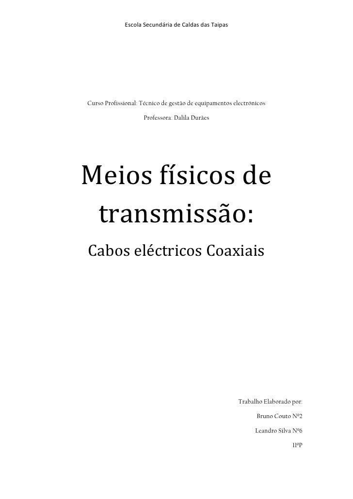 Escola Secundária de Caldas das TaipasCurso Profissional: Técnico de gestão de equipamentos electrónicos                  ...