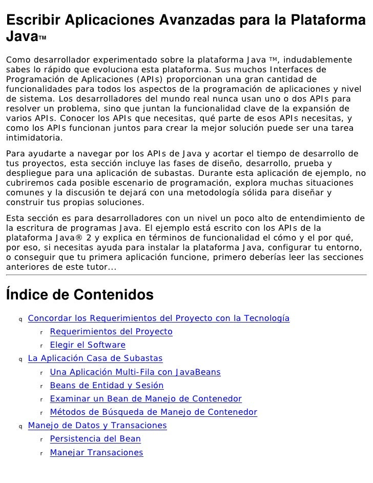 CURSO DE PROGRAMACION AVANZADA EN JAVA EN ESPAÑOL