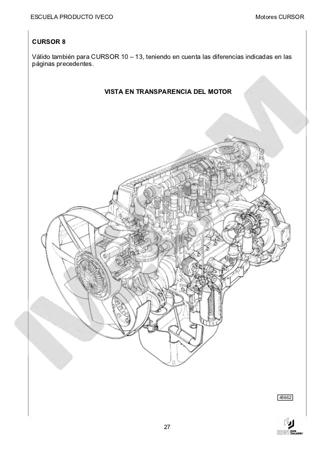 manual de motor iveco cursor rh es slideshare net Iveco Eurotrakker iveco cursor 8 workshop manual