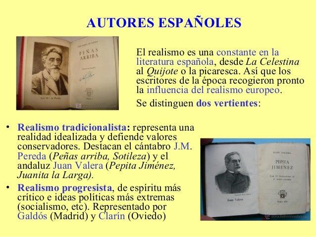 AUTORES ESPAÑOLES                             El realismo es una constante en la                             literatura es...