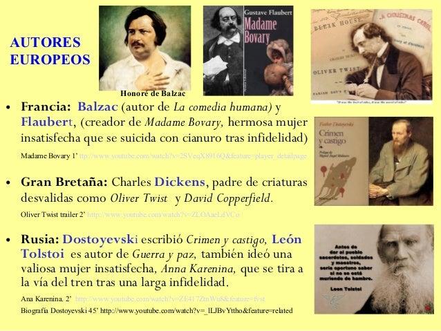 AUTORESEUROPEOS                                 Honoré de Balzac• Francia: Balzac (autor de La comedia humana) y  Flaubert...