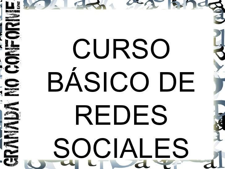 CURSOBÁSICO DE  REDESSOCIALES