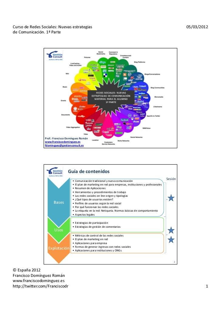 Curso de Redes Sociales: Nuevas estrategias                                                                               ...