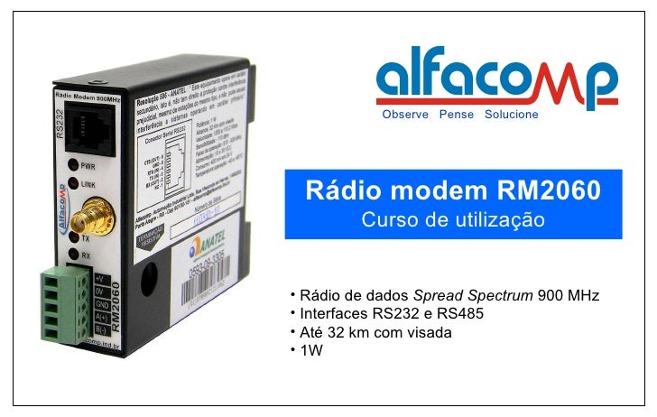 Eduardo Grachten - Eng. Eletricista  <ul><li>Rádio de dados  Spread Spectrum  900 MHz </li></ul><ul><li>Interfaces RS232 e...