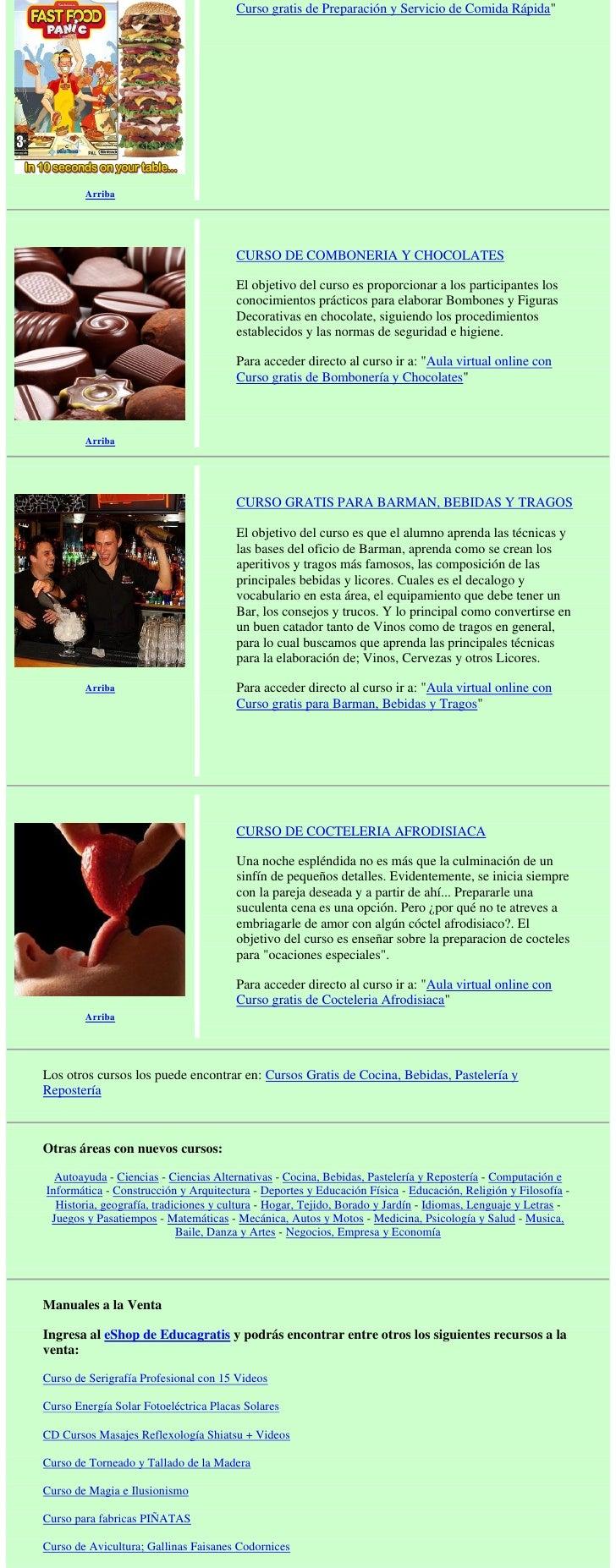Cursos gratis de cocina bebidas pasteler a y reposter a - Cursos de cocina en ciudad real ...