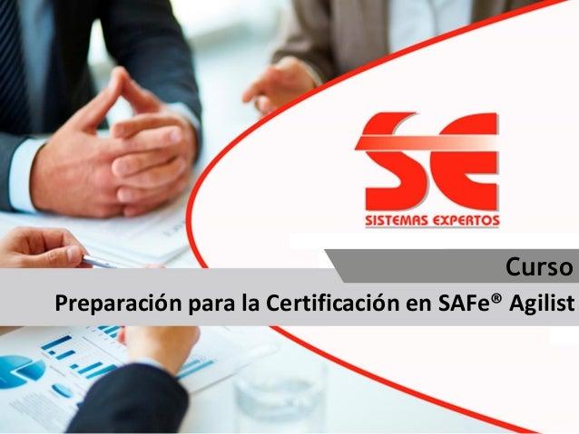 Diplomado Preparación para la Certificación en SAFe® Agilist Curso