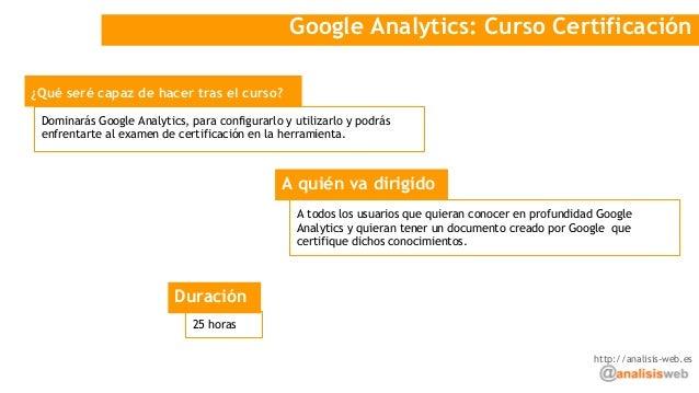 Cursos Google Analytics y Google Tag Manager Slide 3