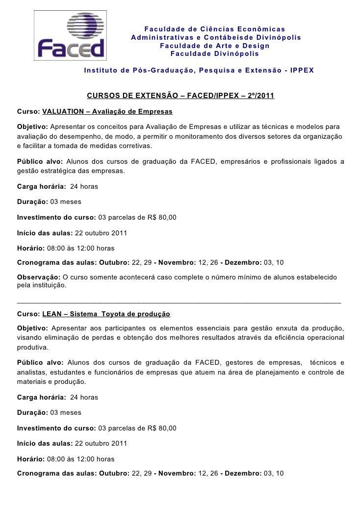 Faculdade de Ciências Econômicas                                    Administrativas e Contábeisde Divinópolis             ...