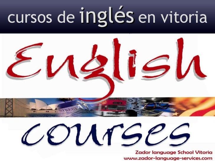 cursos de   inglés   en vitoria