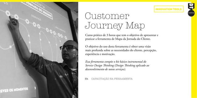Customer Journey Map 3h CAPACITAÇÃO NA FERRAMENTA Curso prático de 3 horas que tem o objetivo de apresentar e praticar a f...
