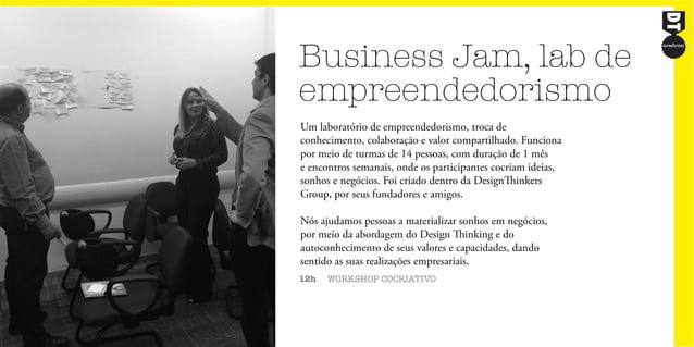 Business Jam, lab de empreendedorismo 12h WORKSHOP COCRIATIVO Um laboratório de empreendedorismo, troca de conhecimento, c...