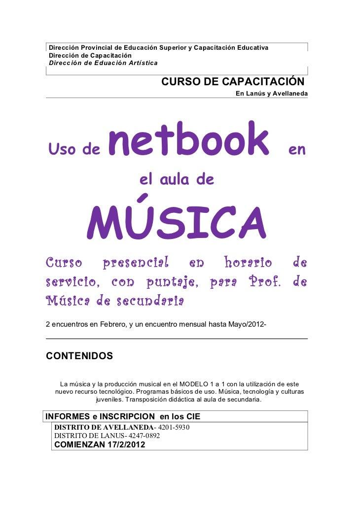 Curso Neetbook Música en Servicio