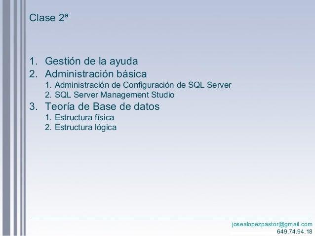 Curso Sql Server 2012 Clase 2